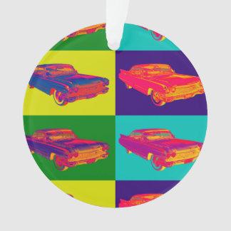 Colorful 1960 Cadillac Luxury Car Pop Art Ornament