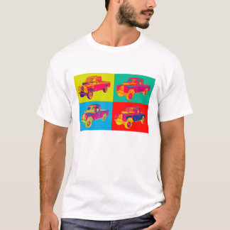 Colorful 1971 Land Rover Pickup Truck Pop Art T-Shirt