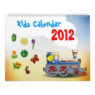 Colorful 2012 Kids Calendar