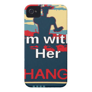 Colorful 2016 I am with her Vote for Hillary USA S Case-Mate iPhone 4 Cases