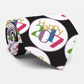 Colorful 2017 New Year's Tie