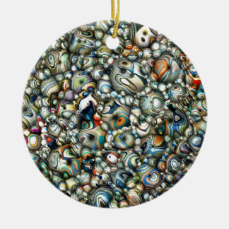 Colorful 3D Abstract Ceramic Ornament