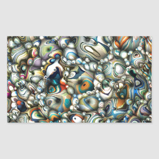 Colorful 3D Abstract Rectangular Sticker