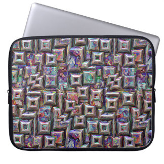 Colorful 3D Abstract Structure Laptop Sleeve