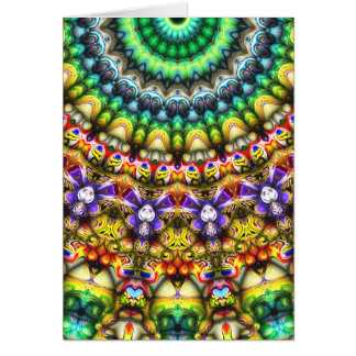 Colorful 3D Abstract Sun Card