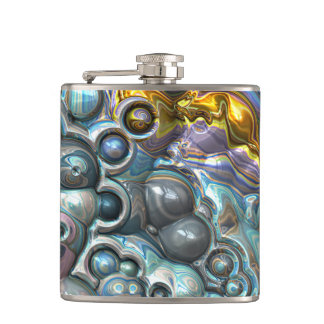 Colorful 3D Clusters Hip Flask