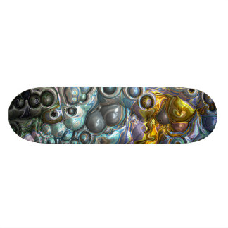 Colorful 3D Clusters Skate Decks