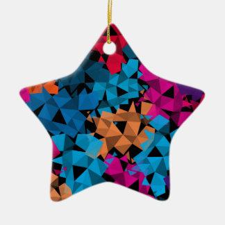 Colorful 3D geometric Shapes Ceramic Ornament