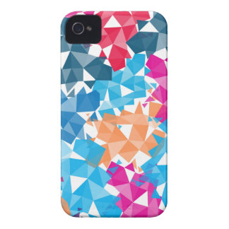 Colorful 3D geometric Shapes iPhone 4 Case-Mate Cases