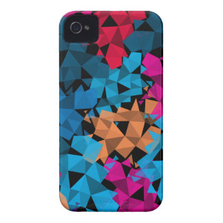 Colorful 3D geometric Shapes iPhone 4 Cases