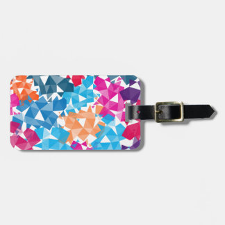 Colorful 3D geometric Shapes Luggage Tag