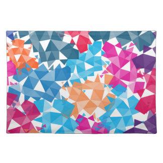 Colorful 3D geometric Shapes Placemat