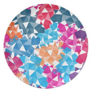 Colorful 3D geometric Shapes Plate