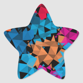 Colorful 3D geometric Shapes Star Sticker