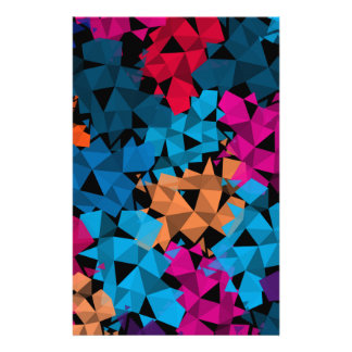 Colorful 3D geometric Shapes Stationery
