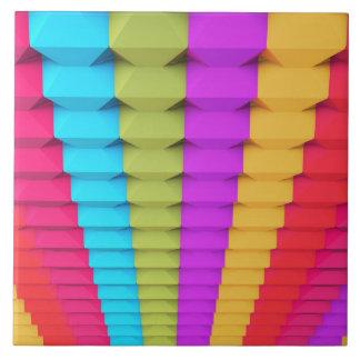 Colorful 3D Geometric Tile