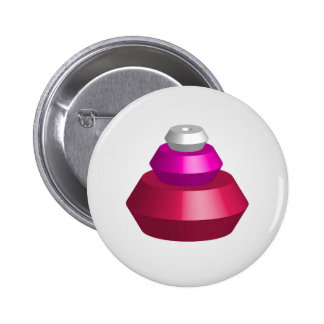 Colorful 3d objects 6 cm round badge
