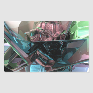 Colorful 3D Reflections Rectangular Sticker