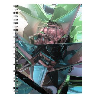 Colorful 3D Reflections Spiral Notebook