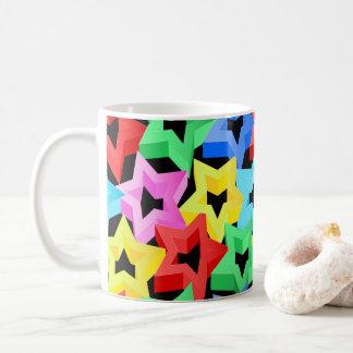 Colorful 3D stars Coffee Mug