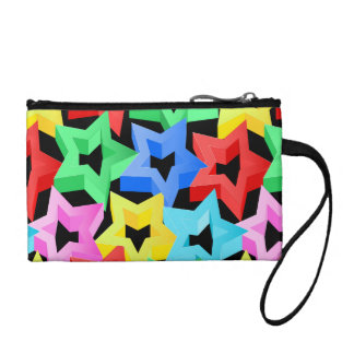 Colorful 3D stars Coin Purse