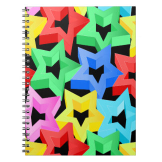 Colorful 3D stars Notebooks