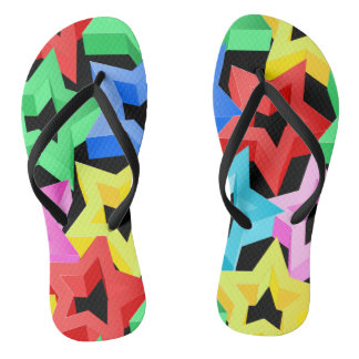 Colorful 3D stars Thongs