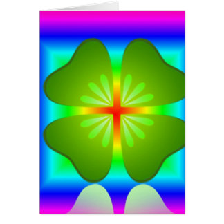 Colorful 4 Leaf Card