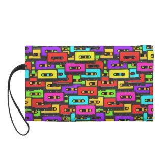Colorful 80s analoge audio tape pattern wristlets