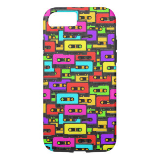 Colorful 80s analoge audio tapes iPhone 7 case