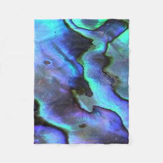 Colorful Abalone Seashell, Beautiful Nature Fleece Blanket