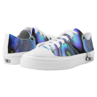 Colorful Abalone Seashell, Beautiful Nature Low Tops