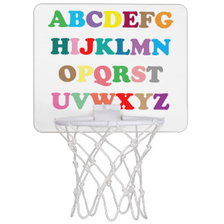 Colorful ABC text Mini Basketball Hoop