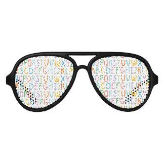 Colorful ABCs Aviator Sunglasses