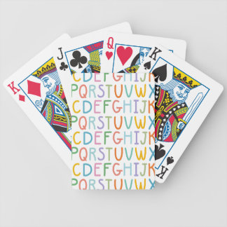 Colorful ABCs Bicycle Playing Cards