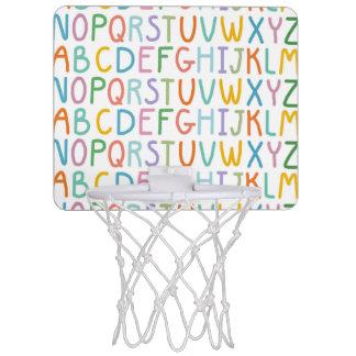 Colorful ABCs Mini Basketball Hoop