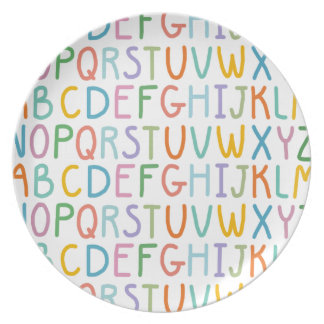 Colorful ABCs Plate