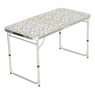 Colorful ABCs Pong Table