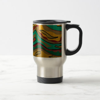 Colorful Aboriginal Inspired Design.Travel Mug