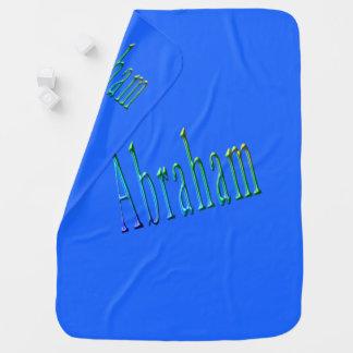 Colorful Abraham Boys Name Logo, Baby Blanket