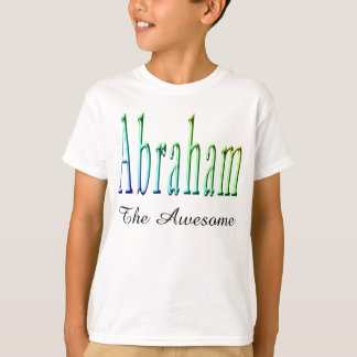 Colorful Abraham Boys Name Logo, T-Shirt