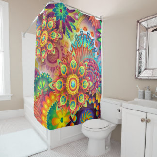 colorful absrtact shower curtain