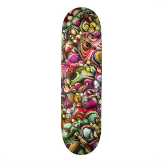 Colorful Abstract 3D Shapes 21.6 Cm Skateboard Deck