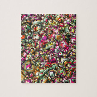 Colorful Abstract 3D Shapes Jigsaw Puzzle