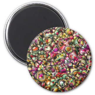 Colorful Abstract 3D Shapes Magnet
