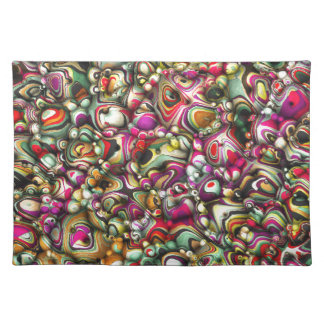Colorful Abstract 3D Shapes Place Mats