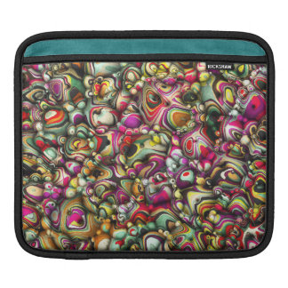 Colorful Abstract 3D Shapes Sleeve For iPads