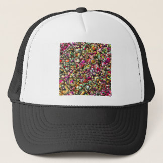 Colorful Abstract 3D Shapes Trucker Hat