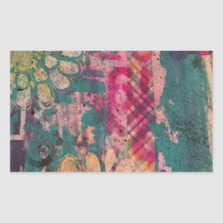 Colorful Abstract Art 1 Rectangular Sticker