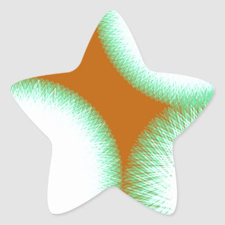 colorful abstract art 57 star sticker